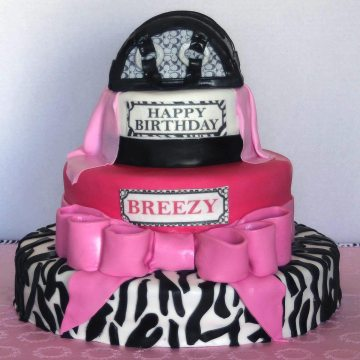 Zebra Hot Pink Cake