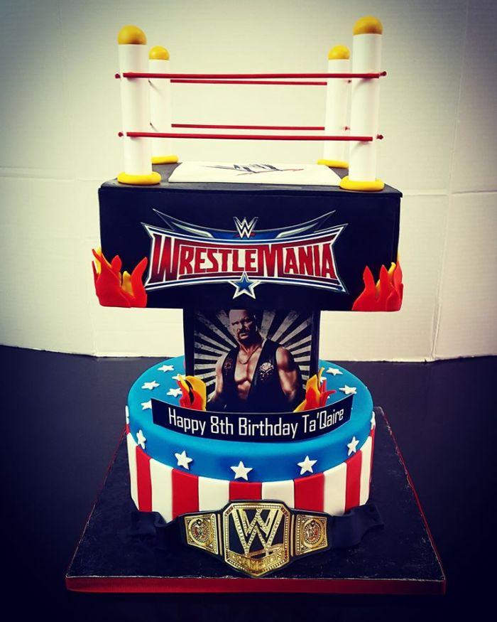 wrestle cake